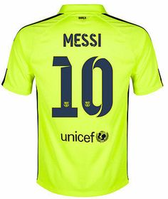 2463564327c NIKE LIONEL MESSI FC BARCELONA THIRD 3RD JERSEY 2014 15 Volt Loyal Blue