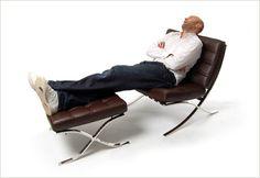 Sleeping in my Barcelona chair