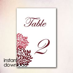 diy table numbers template instant download by cheapobride 7 00