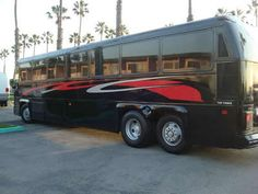 Black and Red Party Bus - seats 40 passengers! - LA party bus rentals