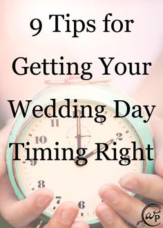 Get your wedding day timing right with this great article.