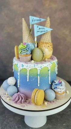Cake Decorating For Beginners, Cake Decorating Designs, Cake Decorating Techniques, Decorating Ideas, Beautiful Cake Designs, Beautiful Cakes, Amazing Cakes, Birthday Cake Decorating, Cool Birthday Cakes