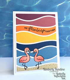 lawn fawn | flamingos | flamingo | flamingo together | kimpletekreativity.blogspot.com | handmade card | papercraft | cardmaking