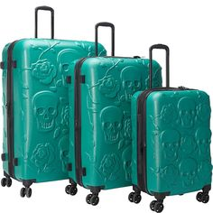 Buy the IT Luggage Skull Emboss 3 Pc Spinner Luggage Set at eBags - Show your unique sense of style whether you're traveling near or far with this set of skull luggage