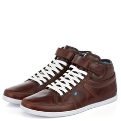 Boxfresh Swich Leather Toffee Toffee, Men's Shoes, Size 14, High Top Sneakers, Footwear, Mens Fashion, Leather, Style, Sticky Toffee