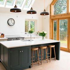Handmade Bespoke Kitchens in Classic English and Shaker Kitchen Styles. Kitchen Island Unit Ideas, Kitchen Ideas, Shaker Style Kitchens, Shaker Kitchen, Kitchen Interior, Kitchen Design, Farrow And Ball Kitchen, Bespoke Kitchens, Kitchen Cabinets