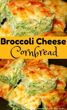 "Broccoli Cheese Cornbread Casserole is a broccoli cheese casserole like you've never had before. It really gives off a ""Southern"" or ""chur. Broccoli Cornbread, Broccoli Cheese Casserole, Cornbread Casserole, Broccoli And Cheese, Casserole Recipes, Savory Cornbread Recipe, Fried Cornbread, Jalapeno Cheddar Cornbread, Cornbread Salad"