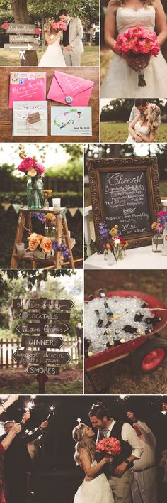Real Wedding: Summer Vintage! Photos by Nessa K Photography! Wholesale Flowers from FiftyFlowers!