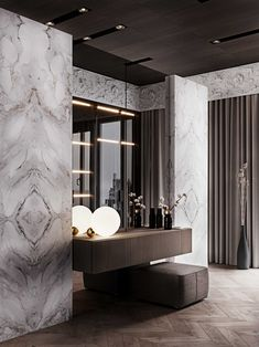 Entrance Hall Decor, Decoration Hall, Contemporary Interior, Modern Interior Design, Dressing Table Design, Vanity Design, Home Room Design, Luxury Decor, Luxurious Bedrooms