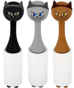 Cat Shaped Lint Roller ** #Cat Lovers join http://facebook.com/OzziCat ** Get Your Cat #Magazine http://OzziCat.com.au **