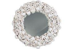 Plaster Shell Mirror