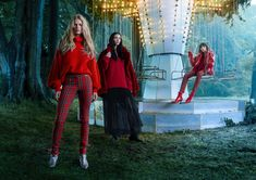 Anna Ewers, Mariacarla Boscono and Charlee Fraser look festive in H&M Holiday 2017 advertising campaign