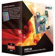 AMD A-Series APU (CPU+GPU) Quad-Core A8-3870K (3.0 GHz) FM1, Retail (Black Edition) by AMD. $128.34. Specifications Mfr Part Number: AD3870WNGXBOX Process Type: A8 X4 Quad-Core Processor 3870K Core Count: 4 Thread Count: 4 Frequency: 3000 MHz L2 Cache: 4MB CMOS Technology: 32nm SOI Socket: Socket FM1 Max Thermal Design Power: 100 W Processor Features: MMX 3DNow! SSE SSE2 SSE3 SSE4a AMD64 Technology AMD-V (virtualization) technology Enhanced Virus Protection