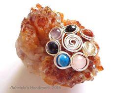 7 Chakra Pendant with Natural Gemstones and by GabrielasHandiwork
