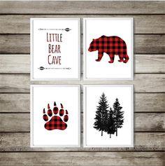 Red Nursery, Plaid Nursery, Baby Boy Nursery Decor, Baby Boy Rooms, Animal Nursery, Woodland Nursery, Baby Boy Nurseries, Nursery Themes, Nursery Art