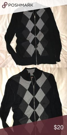 Men's argyle zip up sweater Knit argyle sweater in great condition Dockers Sweaters Cardigan