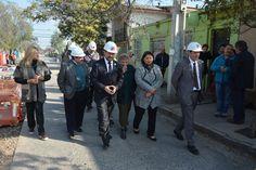Ministro de Transportes Intendente y el Alcalde Sadi Melo inspeccionan obras de pavimentación en Víctor Plaza Mayorga