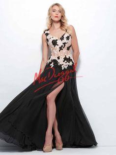 Floral Prom Dress   Corset   Mac Duggal 10018R