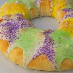 Mardi Gras Cream Cheese filled King Cake