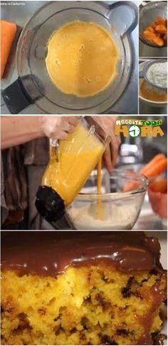 Receita de Bolo de Cenoura Formigueiro Com Brigadeiro (Delicioso). Buttercream Cake, Chocolate, French Toast, Deserts, Good Food, Pasta, Sweets, Meals, Breakfast