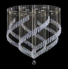 Magiczna kryształowa spirala to idealne designerskie dopełnienie pięknego wnętrza. #magic spiral #lighting #crystal #swarovski