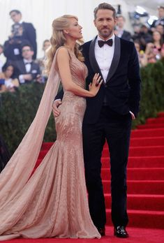 Blake Lively and Ryan Reynolds 2014 Met Gala