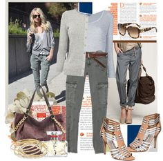 """""""Reviving Old Trends: Cargo Pants"""" by lavendergal ❤ liked on Polyvore"""