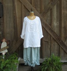 """washed linen tunic top in white by linenclothing on Etsy, $125.00 Love this """"linen shop""""....unique linen clothing."""