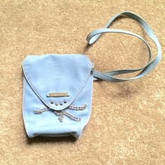 """Baby blue bag form Nine West Used twice, perfect condition. Fun baby blue small bag from Nine West, approx. 8"""" high, 7"""" wide. Thank you for visiting my closet, please feel free to ask questions and make offers. I offer great discounts on bundles  Nine West Bags Satchels"""
