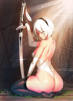 2B NieR:Automata ニーアオートマタ 170113 [2] --------------------  Soo now i see the soft side of this badASS girl... Hehe