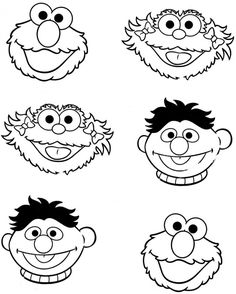 Colouring Sheets Cartoon Sesame Street Muppets Printable Free For