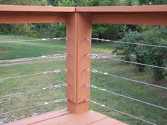 Cable deck railing using Home Depot stuff