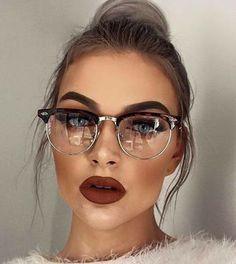 trendy glasses frames for women cat eye ux ui designer Cute Glasses, New Glasses, Girls With Glasses, Glasses Eye Makeup, Fashion Eye Glasses, Womens Glasses Frames, Brow Powder, Wearing Glasses, Sunglasses Women