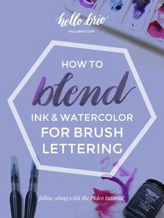Learn how to blend ink and watercolor for brush calligraphy - watch the quick video tutorial