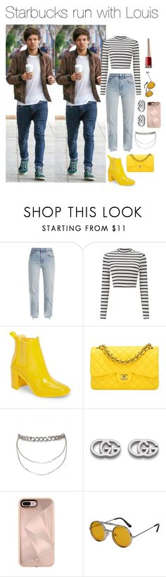 """""""Louis Tomlinson"""" by haleyssprefrences ❤ liked on Polyvore featuring Vetements, Miss Selfridge, Jeffrey Campbell, Chanel, Gucci, Rebecca Minkoff and Spitfire"""