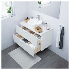 IKEA - GODMORGON Sink cabinet with 2 drawers white