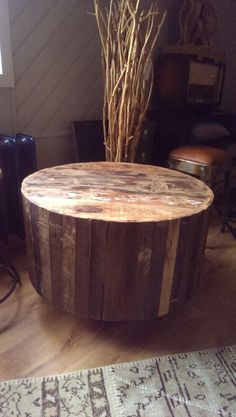 Koffie tafel recycled wood