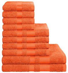 Handtuch Set, my home, »Vanessa«, mit abgesetzter Bordüre