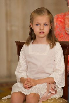 Infanta Leonor of Spain attended the King Juan Carlos of Spain signs the Act of Abdication at the Royal Palace, 18.06.2014