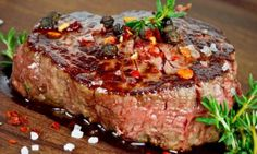 Need an excellent steak choice for that special dinner that's stress-free and easy? Then go for a ribeye that never fails to guarantee a delicious, juicy steak. It's the ultimate steak for so many reasons. Grilled Steak Recipes, Grilled Meat, Meat Recipes, Cooking Recipes, Marinated Steak, Steak Marinade Best, How To Grill Steak, Marinade Sauce, Sauce Steak