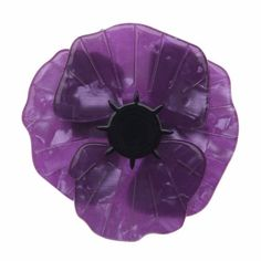 Poppy Field (Erstwilder Purple Resin Brooch), now available. Hand assembled and hand painted, presented in a branded box.