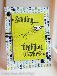 Heather Hoffman for Avery Elle using Sending You stamp set and Finished Frames
