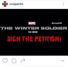 If y'all love Bucky and Seb Stan, sign this petition. It's in @mmegadethh bio on Instagram.