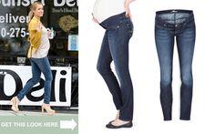 Cute preggo jeans Celebrity Maternity Style, Maternity Fashion, Summer Maternity, Pregnant Celebrities, Top Celebrities, Kids Fashion, Skinny Jeans, Cute, Pants