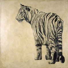 Vicky White The Illusionist III Bengal tiger Tiger Ii, Bengal Tiger, Red River Hog, Asiatic Lion, The Illusionist, Indian Elephant, Animal Sketches, Pencil Portrait, Triptych