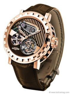 I love the mechanical look to watches. I am kind of a feminine guy, so I could use all the masculinity I can get! This watch is B.A! (Dewitt watch)