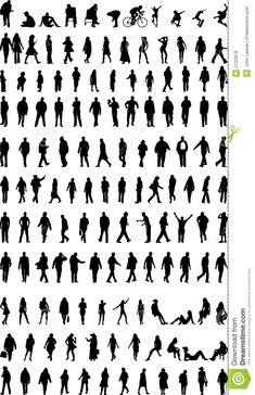 Illustration à propos Un bon nombre de silhouettes des hommes, des femmes et des enfants. Illustration du présidence, mâle, penser - 2123978 Girl Drawing Sketches, Doodle Drawings, Easy Drawings, Easy Patterns To Draw, Person Silhouette, Interior Design Renderings, Sketches Of People, Man Illustration, Photo Libre