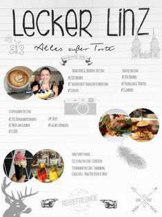 Eine Food-Guide durch Linz. Unbedingt ausprobieren!