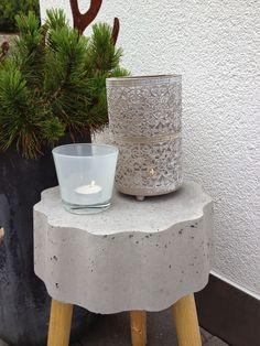 Wohnbrise: Betonhocker, Hocker, Beton, Herbst