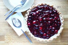 single-crust cherry pie :: story of a kitchen | story of a kitchen